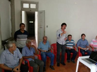 O superintendente do Senar, Luiz Figueiredo, fala em Caxias da importância do CAR aos produtores rurais.