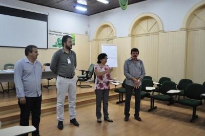 Presidente da Faema/Senar, Hilton Coelho, superintendente Luiz Figueiredo, instrutor Ricardo Martim e a coordenadora dos programas FPS e OS, Yolanda Batista.
