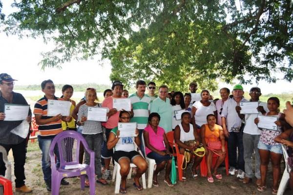Produtores rurais de Penalva com o vice-presidente da Faema, Raimundo Coelho e o superintendente do Senar, Luiz Figueiredo.