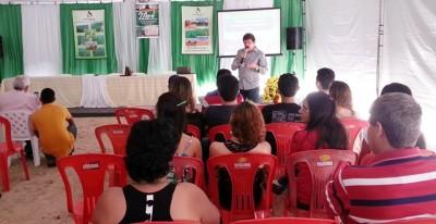 Superintendente do Senar, Luiz Figueiredo, ministra palestra sobre missão do Senar.