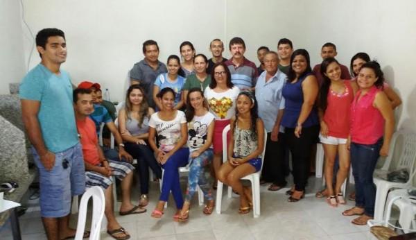 Aula inaugural da Rede e-Tec em Chapadinha. O superintendente do Senar, Luiz Figueiredo ao lado da prefeita Ducilene Belezinha, da coordenadora da Rede E-Tec, Thaysa Sodré, secretários, assessores e alunos.