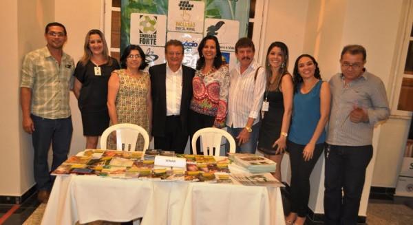 Vice-presidente da Faema, Raimundo Coelho, superintendente do Senar e o consultor da Faema, César Viana, entre alguns representantes da classe empresarial maranhense.