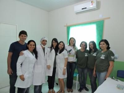 : Equipe de trabalho do programa Útero é Vida, do Senar em parceria com a prefeitura de Urbano Santos.