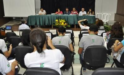 O Gestor do Senar, Luiz Figueiredo integra mesa redonda no IFMA durante a Semana de Educação, Ciência e Tecnologia.