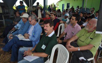Equipe do sistema Faema/Senar no evento de lançamento da nova variedade de arroz BRS Catiana.
