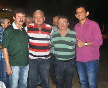 Luiz Figueiredo, presidente do Sindicato dos Produtores Rurais de Coroatá, Sebastião Carneiro, Raimundo Coelho e o prefeito de São João dos Patos, Valdênio Sousa.