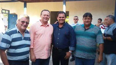 Vice-Governador Carlos Brandão acompanhado por Raimundo Coelho e lideranças sindicais do setor do agronegócio