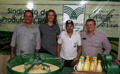 Raimundo Coelho, a deputada Valéria Macêdo e o secretário- adjunto da Sagrima ao lado do instrutor Ismael Pedreira do Senar.