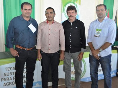 Luiz Figueiredo (SENAR-MA), ao lado de Epitácio Rocha, (ATeG/SENAR), Washington Oliveira, (prefeitura) e Paulo Lira, (Sinpra).