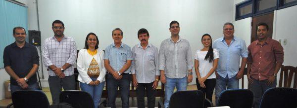 Equipe de instrutores do Senar na abertura do treinamento.