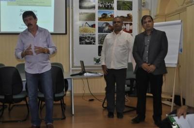 O Superintendente Luiz Figueiredo em abertura do seminário sobre ITR, no Senar.