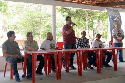 Secretário da Saf, Adelmo Soares, abre evento acompanhado pelos dirigentes do sistema Faema/Senar e parceiros.