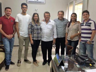 Participantes do programa CNA Jovem em visita à diretoria do Sistema Faema/Senar