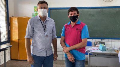 O secretário de agricultura e segurança alimentar, José Henrique e o superintende do Senar/MA, Luiz Figueiredo